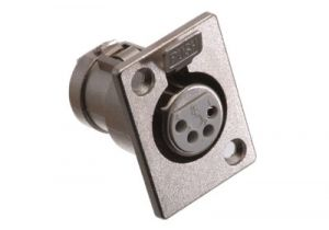 XLR 4 Pin Female Chassis Mount Connector