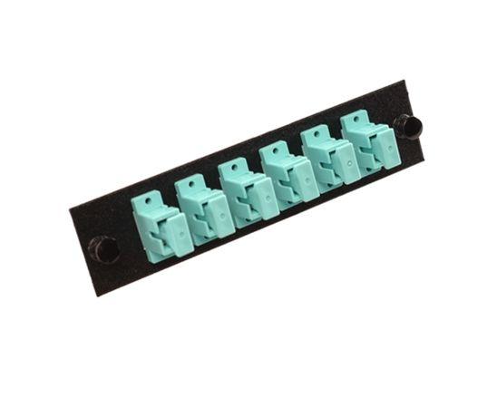 10G Multimode Fiber Adapter Panel - 6 Simplex SC/UPC Couplers