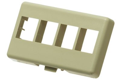 4 Port Netkey Modular Furniture Faceplates Ivory Showmecablescom