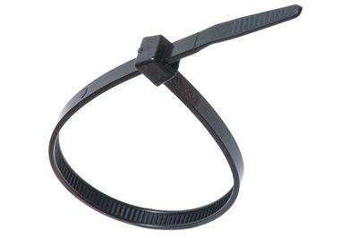 Black Zip Ties >> 11 5 Inch 120lb Heavy Duty Cable Ties Black 100 Per Pack
