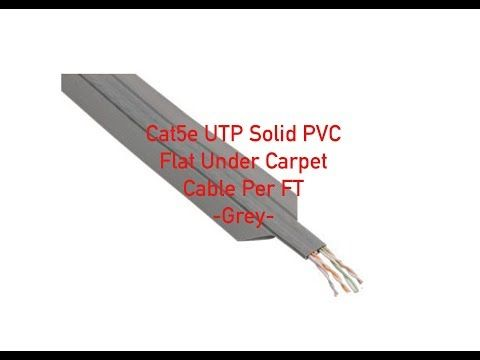 Cat5e UTP Solid PVC Flat Under Carpet Cable - Gray - Per FT on