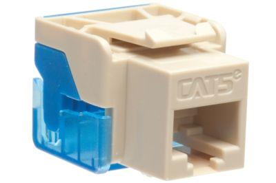 icc cat5e rj45 punchdown keystone jack - ez style - ivory
