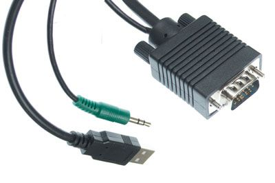 Kvm 3 In 1 Cables Vga Usb A To B 3 5mm Cable Showmecables Com