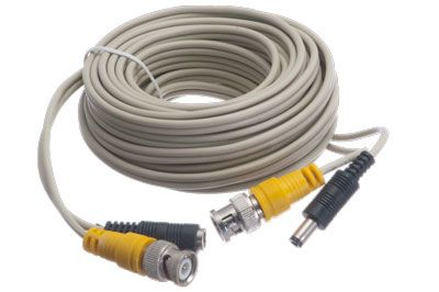Security Camera Cable with Power - BNC Male/DC Male - BNC Male/DC Female