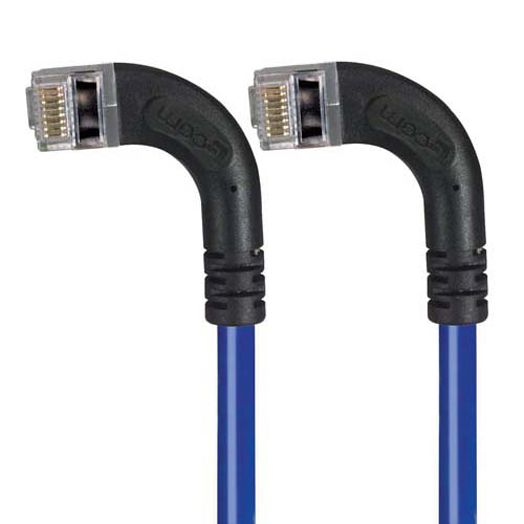 Black Box 1FT CAT5E Molded Angled Shielded Patch Cable