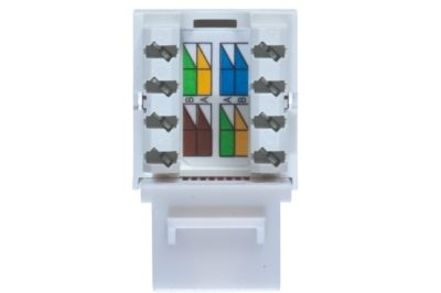 cat5e keystone jack module vertical style gray 3 cat5e rj45 keystone dual row gray showmecables com cat5e keystone jack wiring diagram at bayanpartner.co