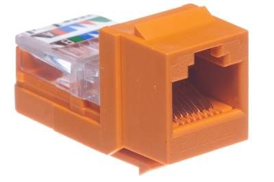 cat5e universal jack module panduit netkey orange 1 panduit netkey cat5e rj45 universal keystone orange panduit cat6 jack wiring diagram at bayanpartner.co
