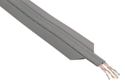 Flat Under Carpet Wire Cat5e Utp Stranded Pvc Gray Per Ft Showmecables ...