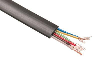 Modular Cable - 6 Conductor - Black - Per FT   ShowMeCables.com