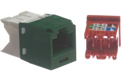 panduit mini com tx5e jack module green 1 panduit cat5e mini com tx5e rj45 keystone green showmecables com panduit cat6 jack wiring diagram at bayanpartner.co