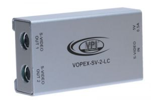 2-Way S-Video Splitter with AC Adapter (1-in/2-out)