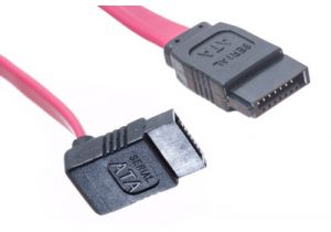 SATA to SATA Cable - Single Right Angle Connector