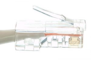 No Boot Cat5e Ethernet Patch Cable - Gray – 7 FT
