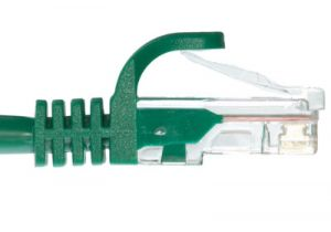 Slim Boot Cat5e Ethernet Patch Cable - Green – 3 FT