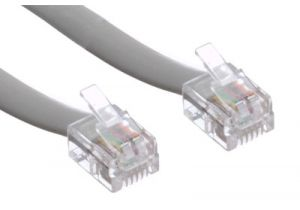 RJ12 Line Cord - 6 Conductor - Straight - 3 FT