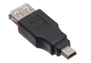 USB 2.0 Female A to Mini B Male Adapter