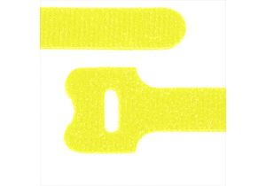 Hook and Loop Fastening Cable Ties - 12 Inch x 1/2 Inch - Yellow - 10 Per Pack